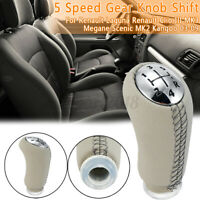 5 Speed Gear Shift Knob For Renault Laguna Clio 3 MK3 Megane Scenic MK2 Kangoo