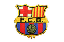 "FC BARCELONA FIFA SOCCER IRON-ON PATCH CREST BADGE SIZE 2 1/2"" X 2 1/2"" INCH"