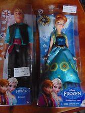"Set of 2 Disney Authentic Frozen Classic Doll Kristoff & ANNA 2 Classic 12"""