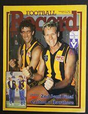 1987 2nd semi- final Carlton vs Hawthorn Football Record