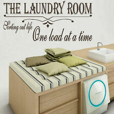LARGE LAUNDRY ROOM QUOTE SORT LIFE ONE LOAD TIME WALL ART STICKER TRANSFER DECAL