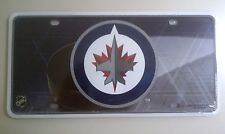 Winnipeg Jets NHL Hockey PUCK Metal Tag License Plate