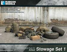Rubicon Models: Allied Stowage Set 1 - 28mm WW2 - New! Great for Bolt Action