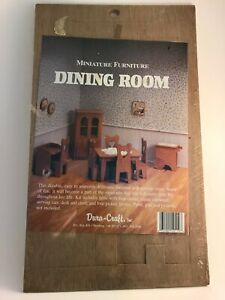 Dura-Craft Miniature Dollhouse Furniture DINING ROOM Sealed & NEW DIY kit