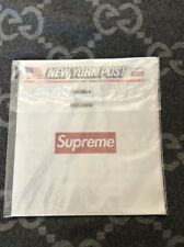 NEW Supreme New York Post Newspaper Collab IN PLASTIC SHIPS WITH CARDBOARD