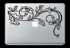 """Flower Design Decal Sticker for Apple Mac Book Air/Pro Dell Laptop 13"""" 15"""" 17"""