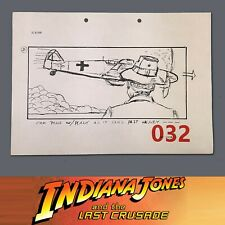 Indiana Jones & The Last Crusade, Production Used Storyboard, Henry Sees Plane