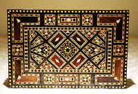 Bois Mosaic boîte  coffret à bijoux, artisanat Damaskunst  K 1-2-421