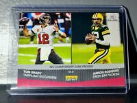 Aaron Rodgers / Tom Brady 2020 Panini NFL Playoffs #208 Football Card 1 of 351