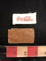 Vtg As-Is Coca-Cola Advertising Leather Patch + Another Coke Thing (? Tag ) 98Z5