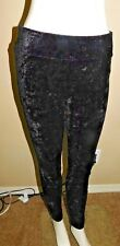 (2) HUE BRAND CRUSHED VELVET BLACK LEGGINGS  SZ XL (16-18) WAS $36.00 EACH