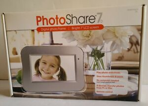 Photo Share 7D Digital Photo Frame 7 Inch LCD Screen New in open Box slideshows