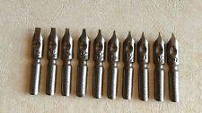 Lot of 250 Dip Pen Nibs-Calligraphy Brause & Co Jserlohn #1 to #6