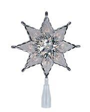 Christmas Bright Ice Nativity Christmas Tree Topper Silver Trim Bright Light 00004000