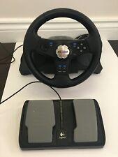 Logitech NASCAR Racing Wheel & Foot Pedals Model E-X2A12 Video Game Controller