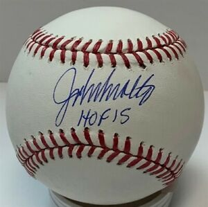 "Braves JOHN SMOLTZ Signed Official MLB Baseball AUTO w/ ""HOF 15"" - JSA"