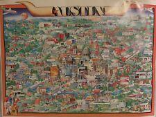 Poster Print City of Austin 1984 Austin News Agency by Margaret Munro 28 x 37