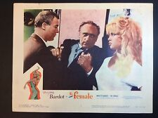"BRIGITTE BARDOT 11""x14"" ""THE FEMALE"" 1959 THEATER FILM PROMO LOBBY CARD"