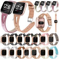 Genuine Leather Watch Wrist Band Bracelet for Fitbit Versa 2 /Versa Lite /Versa