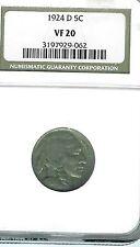 1924-D Buffalo Nickel : NGC VF20