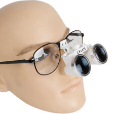 Dental Surgical Binocular Loupes 25x 420mm Metal Frame Protective Magnify Glass