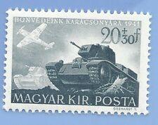 Hungary Germany Third Reich Axis 1941 Tank Bomber Plane 20+30 Stamp MNH WW2 ERA