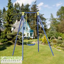 Altalena per bambini LUDO giardino 1 posto struttura ferro 3-12 anni dondolo