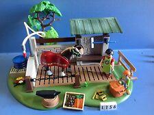 (L156) playmobil station de lavage pour chevaux et maréchal ferrand 5225