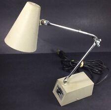 VTG MC Tensor Anvil 4975 Tan Beige Task Lamp Metal Desk Adjustable Crane Arm USA