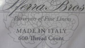 SFERRA Sheet Set Queen 600TC 100% Extra Long Staple Cotton Silky Sateen Ivory