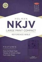 Holy Bible : New King James Version, Purple, LeaterTouch, Holman Reference, P...
