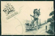 Militari 11º Battaglione Bersaglieri cartolina XF1058