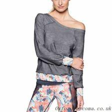 Maaji Women's Peace & Quiet Sweatshirt off the shoulder Grey Size L