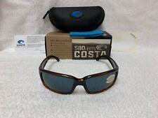 45912f16a NEW Costa Del Mar Caballito Polarized Sunglasses Coconut Fade Gray 580 CL  52 OGP