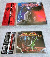 ANIMETAL 1st & 2nd Single CD Set Used Heavy Metal Arrange Anime Song w/Tracking#