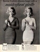 1961 ORIGINAL VINTAGE MAIDENFORM GIRDLES MAGAZINE AD