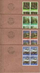 Liechtenstein 2009 FDC 1518-1521 blok - Het Bos