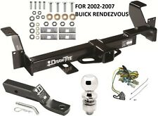 2002-2007 BUICK RENDEZVOUS COMPLETE TRAILER HITCH PACKAGE W/ WIRING KIT DRAWTITE