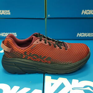 Neuf Hoka One RINCON 2 1110514 / Cahr - Rouge/Noir Chaussures Course Pour Homme