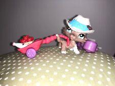 ORIGINAL Littlest Pet Shop Collie DOG # 1330 Tan & White ~ Blue Eyes~