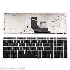 Teclado Español  HP Elitebook 8560P negro con marco plata     0120045