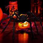 200cm/6.6 FT Giant Spider Decorations Huge Halloween Outdoor Garden Decor Prop