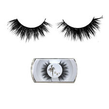 New Real Black Handmade Natural Mink Hair Long Thick Eye Lashes False Eyelashes