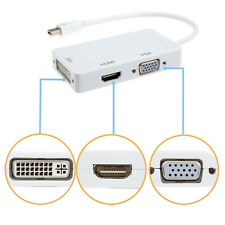 DisplayPort Thunderbolt to DVI VGA HDMI Adapter 3 in1 for MacBook iMac White