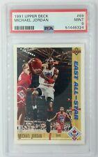 1991-92 Upper Deck East All-Star Michael Jordan #69, Bulls, HOF, Graded PSA 9