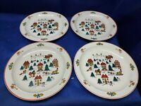 "Vintage Jamestown China ""THE JOY OF CHRISTMAS"" Set/4 Dinner Plates Retired"