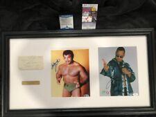 The Rock, Rocky Johnson, Chief Peter Maivia Triple signed JSA Beckett COA WWF