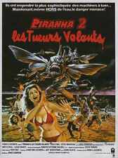 Piranha 2 Poster 01 A2 Box Canvas Print