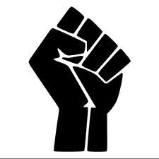 (2 PACK) Black Lives Matter Fist Symbol   Die Cut Vinyl Sticker Decal Laptop