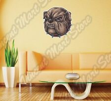 "Bulldog Head Hell-Hound Boxer Dog Fight Wall Sticker Room Interior Decor 22""X22"""